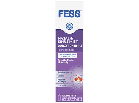 FESS Sinu-Cleanse Congestion Relief Nasal & Sinus Mist Original 100mL