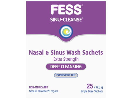 FESS Sinu-Cleanse Deep Cleansing Nasal & Sinus Wash Sachets 25 x 6.3g