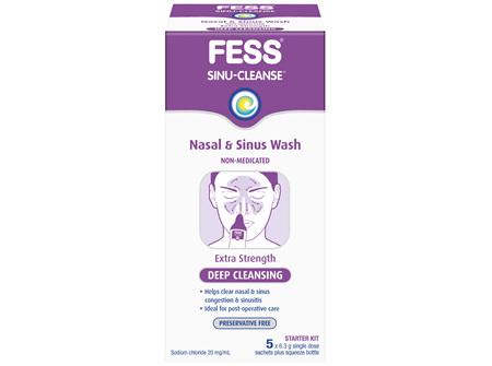FESS Sinu-Cleanse Deep Cleansing Nasal & Sinus Wash Starter Kit
