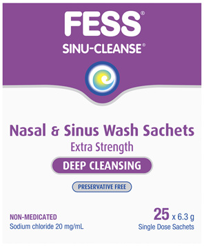 FESS Sinu-Cleanse Deep Cleansing Nasal & Sinus Wash Sachets 25 x 6.3g