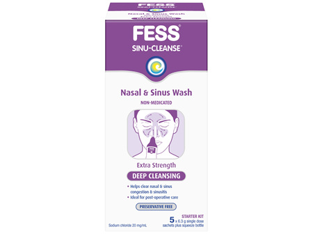 FESS Sinu-Cleanse Deep Cleansing Nasal & Sinus Wash Starter Kit