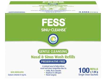 FESS Sinu-Cleanse Gentle Cleansing Wash Kit Refills 100 x 1.94g