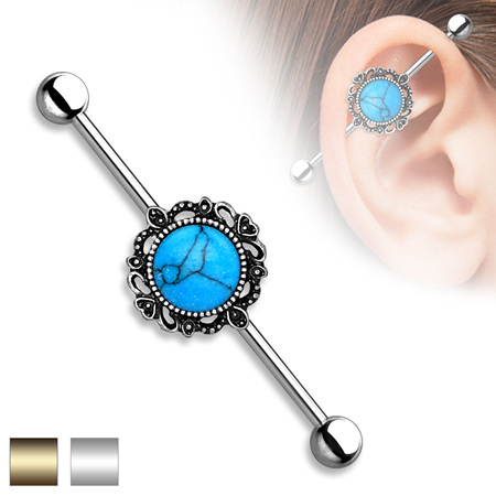 Filigree Turquoise Industrial Bar