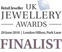 FINALISTS IN UK JEWELLERY AWARDS FOR BRIDAL COLLECTION OF THE YEAR 2016