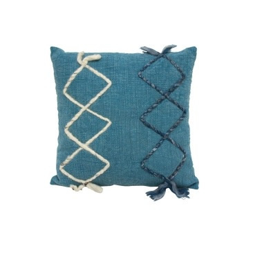 Finn Cushion - Washed Blue 50x50cm