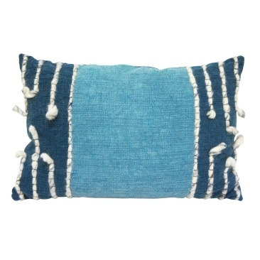 Finn Floor Cushion Cushion - Washed Blue 60x40cm