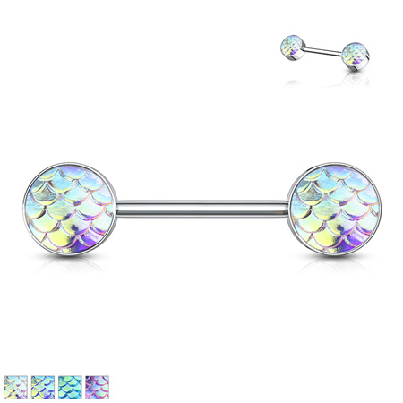 Fish Scale Set Ends Nipple Bar