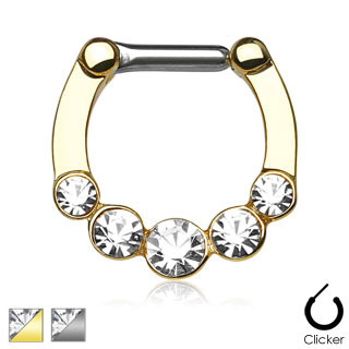 Five Gems Ion Plated  Clicker