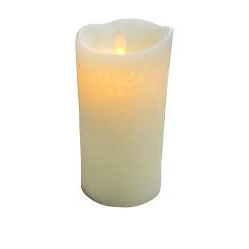 Flameless Candle Carved Small
