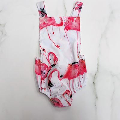 Flamingo Splash Romper