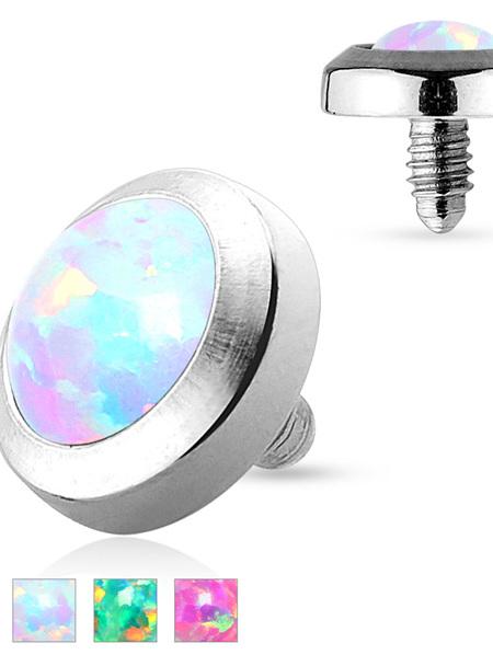 Flat Dermal Anchor Top w/ Opal