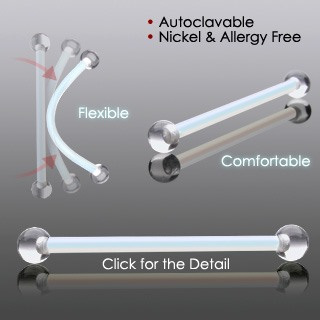 Flexible Retainers w/ UV ends - 2 Colours Available