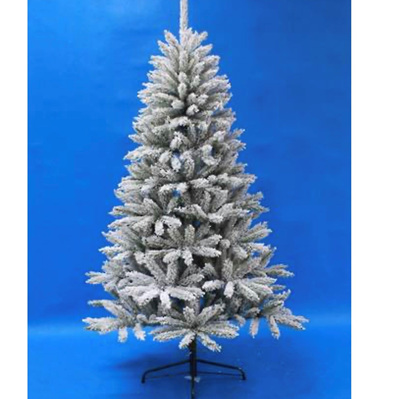 Flocked Douglas Fir Tree Slim 6' Tall