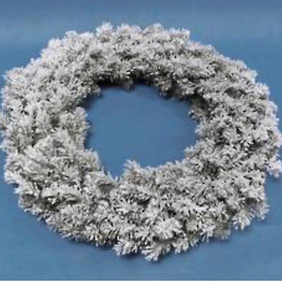 Flocked Douglas Fir Wreath 76cm