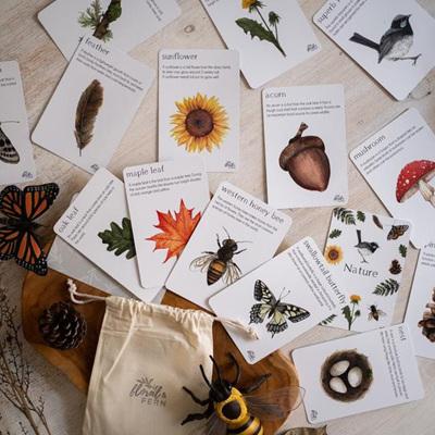 Floral & Fern Nature Flash Cards