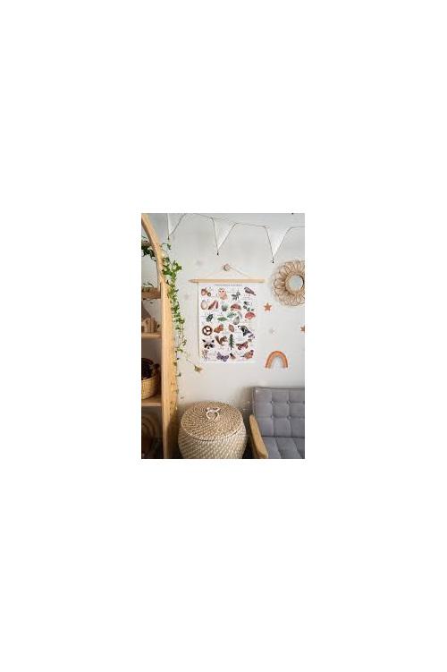 Floral & Fern Woodland Alphabet A3
