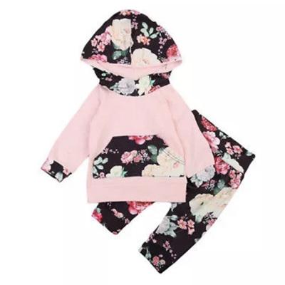 Flower Power Hoodie - Black & Blush