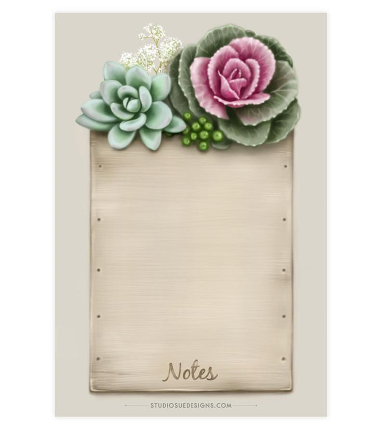 Flowering Kale Notepad