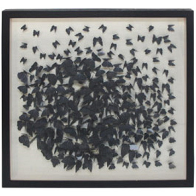 Flying Butterfly Art - Black Frame/120x120cm