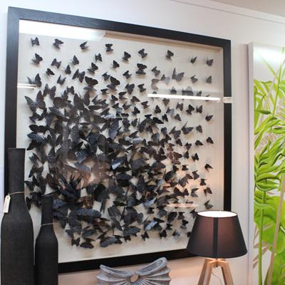 Flying Butterfly Art - Black Frame