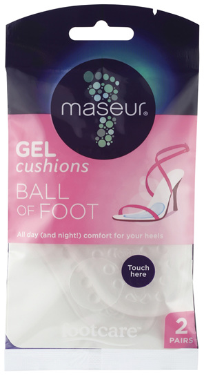 Footcare Ball of Foot Gel Cushions 2 Pairs