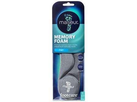 Footcare Men's Memory Foam Insoles, 1 pair
