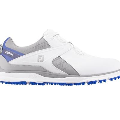 Footjoy 2020 Pro SL With Boa Golf Shoe - White/Grey/Royal Blue #53822