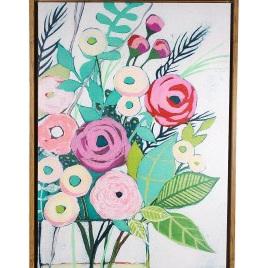 Framed Artsy Flowers