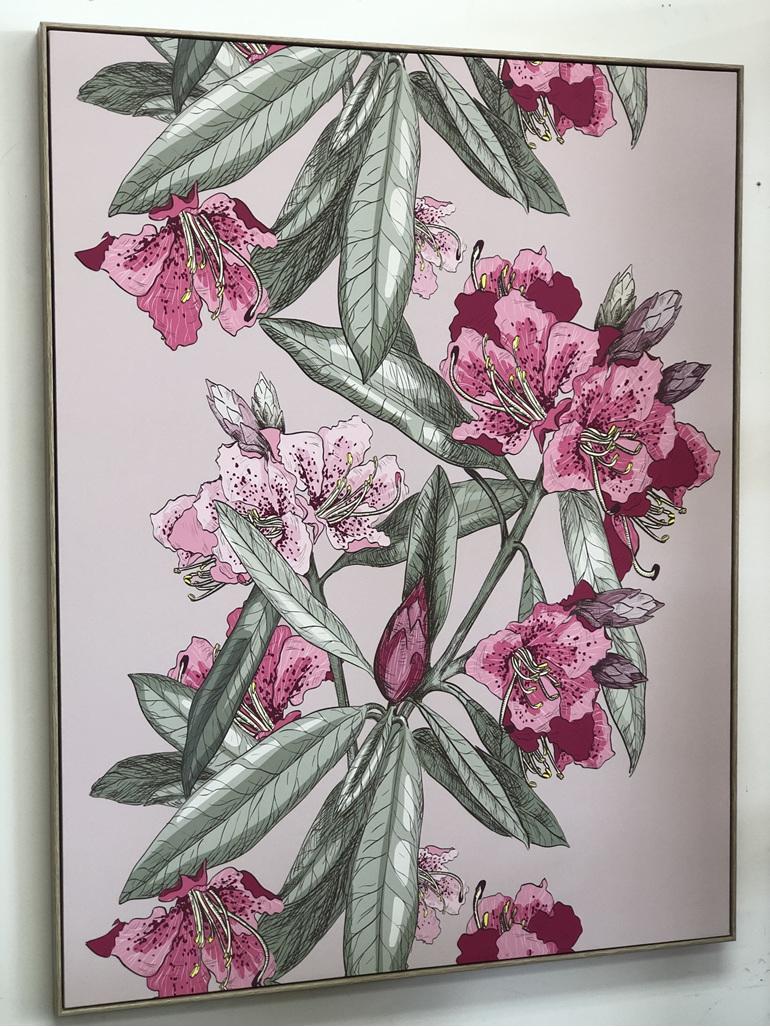 Framed Canvas Blush Oleander
