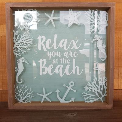 Framed Sign Relax Beach