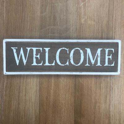Framed Welcome Sign
