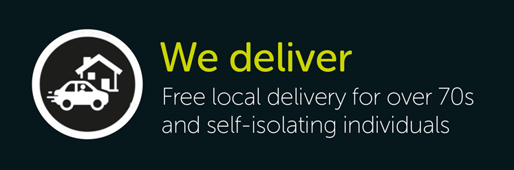 Free local delivery for over 70s and self-isolating individuals