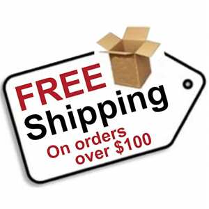 Free Shipping if you spend over $100
