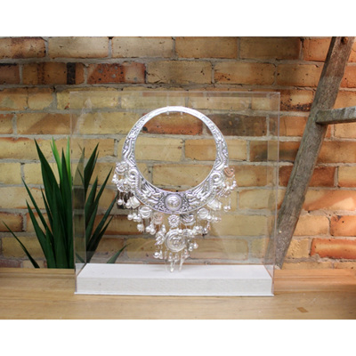 Freestanding Silver Necklace - Perspex Box