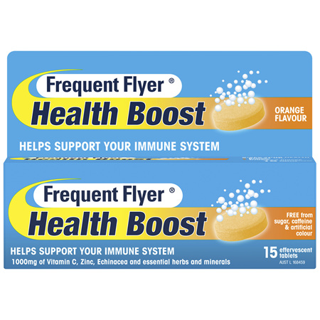 Frequent Flyer Health Boost Orange 15 Tablets