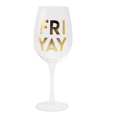 "Fri""YAY"" Wine Glass"