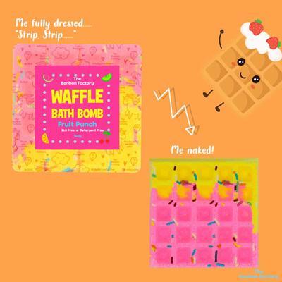 Fruit Punch Bath Bomb Waffle