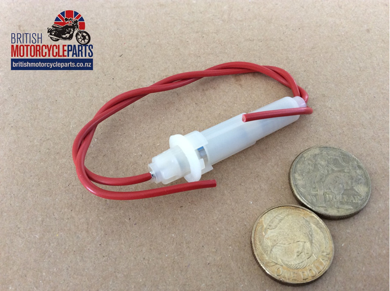 Fuse Holder Complete With Red Wires - British Motorcycle Parts Ltd - Auckland NZ