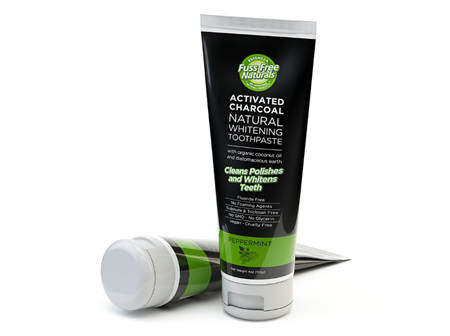 Fuss Free Naturals Activated Charcoal Natural Whitening Toothpaste Peppermint 113g