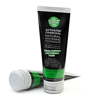Fuss Free Naturals Activated Charcoal Natural Whitening Toothpaste Winter Green 113g