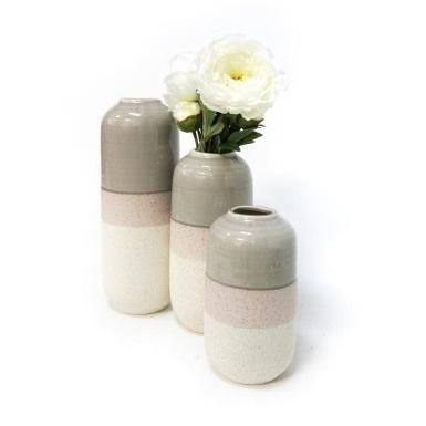Gaetan Ceramic Vase - Powder Grey