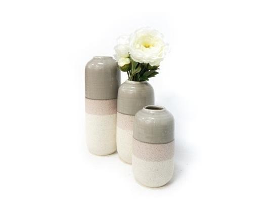 Gaetan Ceramic Vase Powder Grey Vintage Love Homeware Gifts