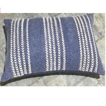 Gais Cotton Cushion - Blue And Cream 40x60cm