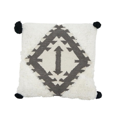 Galia Handwoven Cushion - Black & White 45x45cm