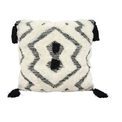 Galie Handwoven Cushion - Black & White - 45x45cm