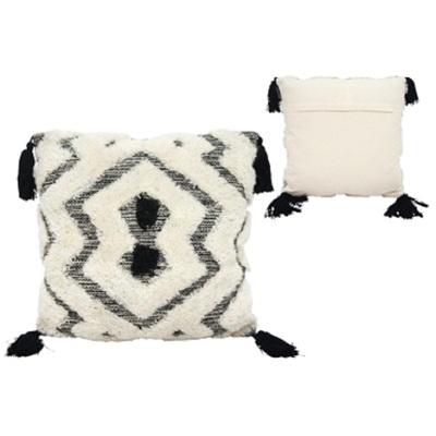 Galie Handwoven Cushion - Black & White 55x55cm