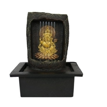 Ganesha Fountain With Light 25.5cm