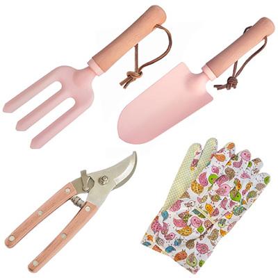 Gardeners Delight Set of 3 Gardening Tools Pink