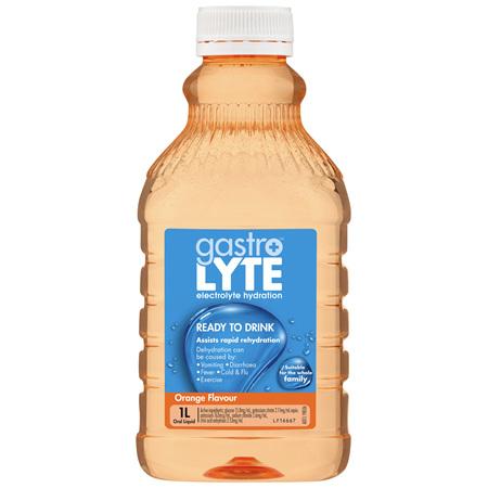 Gastrolyte Electrolyte Hydration Liquid Orange 1L