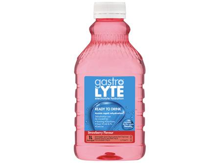 Gastrolyte Electrolyte Hydration Liquid Strawberry 1L